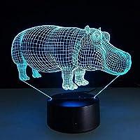 装飾用の7色のムードランプを備えた3DLedナイトライトカバテーブルランプ驚くべき目の錯覚照明