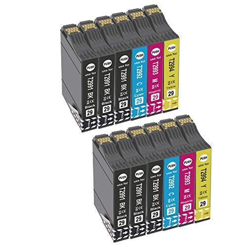 Teland 29XL - Cartuchos de tinta para Epson 29XL para Epson Expression Home XP-235 XP-245 XP-247 XP-330 XP-332 XP-335 XP-342 XP-345 XP-430 XP-432 XP-435 (12 unidades)