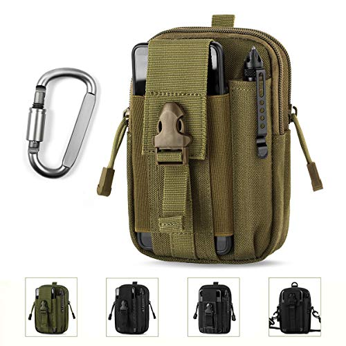 Unigear Compact Multipurpose Tactical Molle EDC Utility Gadget Pouch Tools Waist Bag with Holster Holder, 1000D (Tan)