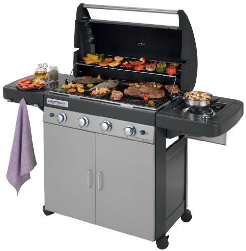 Campingaz Gas BBQ 4 Series Classic LS Plus, 4+1 burner stainless steel gas...