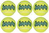 KONG Air Dog Squeak air Tennis Ball Dog Toy, Large, Yellow, 6 Count