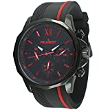 [プジョー] Peugeot 腕時計 Men's Chronograph Sport Watch with Silicon Band Multi Dial Analog Display Quartz Black Watch クォーツ 2046BRD メンズ 【並行輸入品】