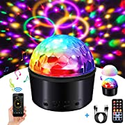 Disco Ball,SOLMORE Disco Lights Party Lights Sound Activated Party Lights with Remote Control&USB 9 Colors Disco Lights DJ Lights Wireless Phone Connection LED Stage Light for Kid Bedroom Bar Club Par