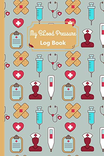 My Blood Pressure Log Book Orange Pattern: Daily Blood Pressure Tracker   6x9 inches Health Journal   120 Pages to Record & Monitor Blood Pressure at Home