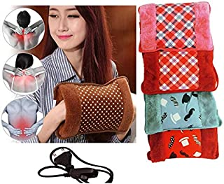 Torix Pink color with green flowers Rechargeable Electric Hot Water Bottle bag Hand Warmer Heater Bag Small Portable for W...