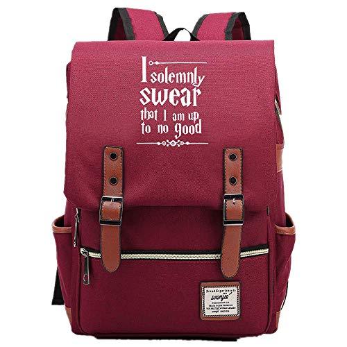 NYLY Adolescente Junior High School Studente Borsa borsa per bambini Harry Potter leggero impermeabile Oxford Cloth Rucksack Grande Rosso