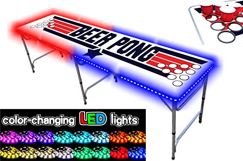 Great Features Of 8-Foot Professional Beer Pong Table w/Cup Holes - Top Pong Edition