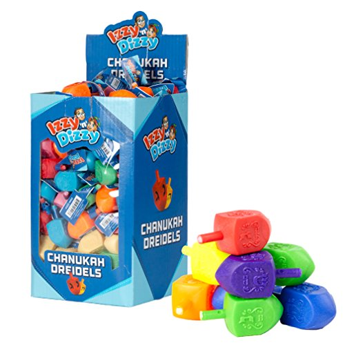 Plastic Chanukah dreidles, Price for 4 various colours, Dreydle for Chanukah, Hanukkah gift for kids by Rimmon