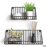 Gadgy estanteria de Pared metalica flotante| Juego de 2 estanterias metalicas | 45 x 12 x 15 & 30 x 12 x 15 cm. | Baldas Pared decorativas | Para Hogar, Cocina, Bãno