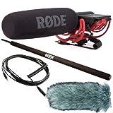 Rode Videomic Rycote - Set de micrófono (incluye protección antiviento, pértiga y cable VC1)