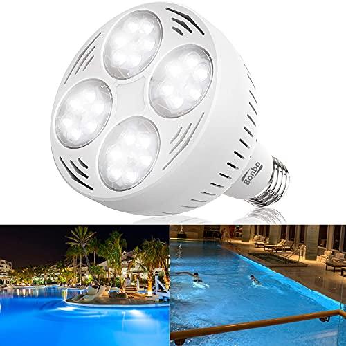 Bonbo 12V 50W LED Pool Light Bulb, 6000k Daylight White LED Swimming Pool Light Bulb, Replaces up to 300-600W Traditional Bulb for...