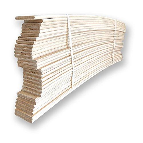 10listones curvados en madera de haya,repuesto para láminas, 6,7x 79x 0,8 cm