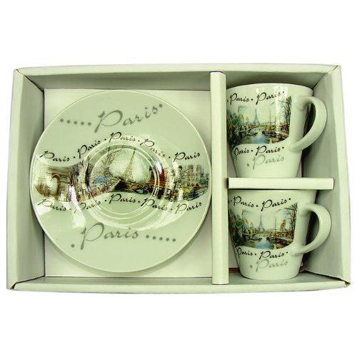 Souvenirs de France - Tasses à Café Paris Monuments