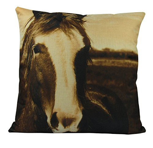 YSHDNDML Paard Kussen Hoes Kussen Paard Liefhebber Gift Home Decor Boerderij Decor Boerderij Dieren Boerderij Paardenhoeders Ruiter