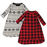 Touched by Nature Unisex Baby Organic Cotton Long-Sleeve Wearable Sleeping Bag, Sack, Blanket, Buffalo Plaid, 0-3 Months