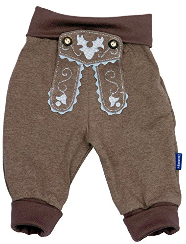 Baby Jogginghose Lederhosen Look, Braun, 100{549d090b54a74a003157db338f9ad18eb8797edafaaf96014fb57ee57fd73f1c} Baumwolle, Größe 86 inkl. Autoaufkleber