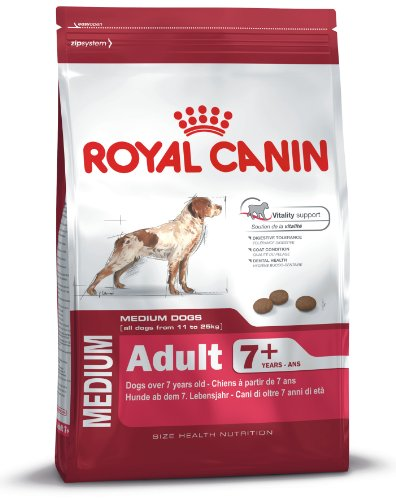 Royal Canin Medium Adult, 7+, 15 kg, 1er Pack (1 x 15 kg Packung), Hundefutter