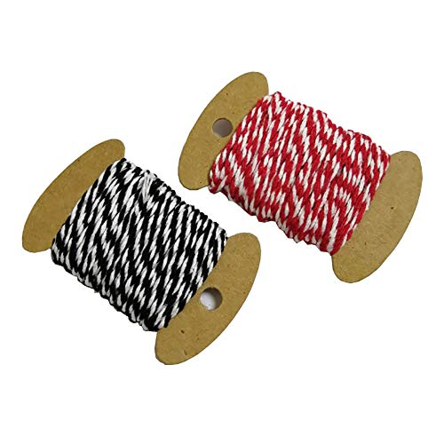 String Twine Thick Cotton Baker Twines DIY Wrapping Cords Heavy Duty Twine Rope Crafts Gift Twine Durable Packing String for Gardening Applications (Set B(22#+24#))