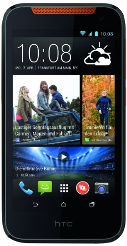 HTC Desire 310 Smartphone (11,4 cm (4,5 Zoll) FWVGA Display, Quad-Core, 1,3GHz, 1GB RAM, 5 Megapixel Kamera, Android 4.2) orange