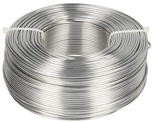 Novaliv Aluminiumdraht Ø 2,0mm I Basteldraht Silber I Alu Draht zum Basteln Blumendraht Metalldraht Biegedraht Schmuckdraht