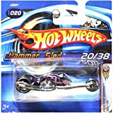 Hot Wheels 2006 First Editions Hammer Sled Motorcycle Bike SHORT CART Black Purple #20