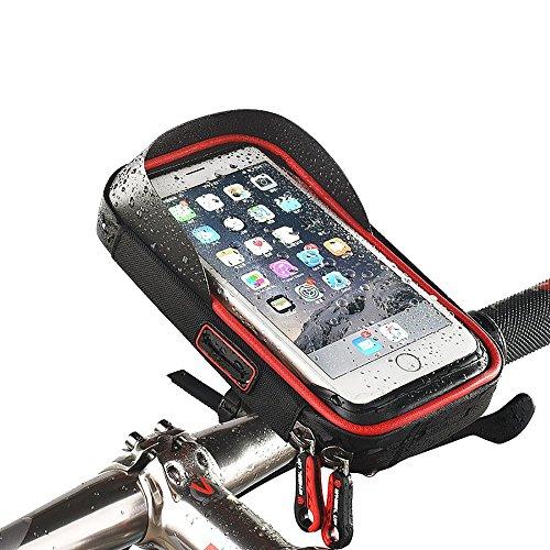 v/élo avant Sac de cadre support de t/él/éphone support pour iPhone X 8/Plus 7/7/6S 6/Plus Samsung Galaxy S8/S7/Edge S6/Edge Plus S6/ Sac de guidon de v/élo Xphonew V/élo Top Tube Pouch