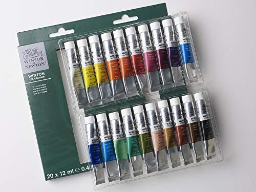 Winsor & Newton Winton Oil-20 X Tube Set, oil paint, Mulitcoloured, 20 Farben in 12ml Tuben