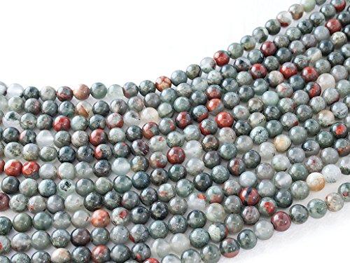 Beads Ok, Abalorios Cuentas Piedra Semipreciosa Piedra Sangre África Naturales Esferas Bola Redonda 6mm ~38cm un Hilo, Vendido por Hilo. 6mm Round Natural Africa Blood Stone Gemstone Beads