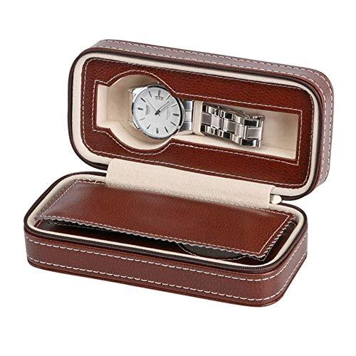Suytan un Lugar Seguro para Guardar Relojes de Pulsera Los Estuches de Relojes Son Los Mejores para Guardar Relojes en Casa en Los Armarios de la Sala de Estar O el Dormitorio,17,5 * 8,5 * 5,6 cm