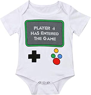 0-24 Months Toddler Baby Girls Boys Romper, Cotton Infant Unisex Letter Print Jumpsuit Sunsuit Outfits