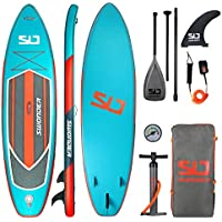 Swonder Inflatable Stand Up Paddle Board with Adjustable Paddle, Backpack, Leash, and Pump for Youth & Adult