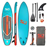 Swonder Premium Inflatable Stand Up Paddle Board, Ultra Durable & Steady, 11'6' or 10'6' Long 32'' Wide 6'' Thick, Full SUP Accessories (Lava, 11'6''x32''x6'')