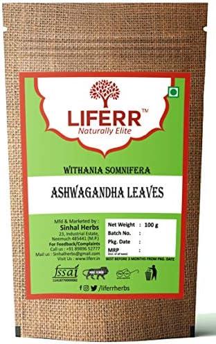 LIFERR Ashwagandha Leaves   Withania Somnifera Leaves   Ashwagandha Leaf   100g
