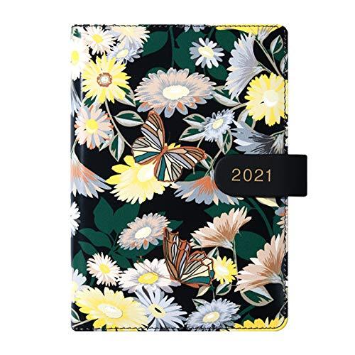 unknows Cuaderno Marginf , Agenda 2021 Organizador Planificador B6 Diario Cuaderno Diario Semanal Diario Cuadrícula Bloc De Notas Hebilla
