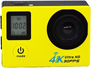 L.J.JZDY flytande rad dubbel skärm sportkamera Dv 4k rörelse 1080p utomhus dykkamera antenn HD-kamera (färg: Gul)