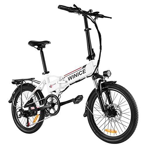 VIVI Bicicleta Plegable Electrica, 20' Bicicleta de Ciudad Eléctrica 350 W Bicicletas Eléctricas para Adultos con Batería Extraíble De 8 Ah, Shimano 7 Velocidades