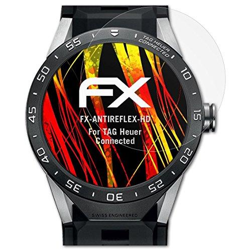atFoliX Schutzfolie kompatibel mit Tag Heuer Connected Bildschirmschutzfolie, HD-Entspiegelung FX Folie (3X)