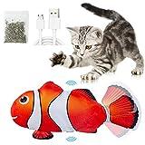 Catnip Giocattoli per Gatti, Giocattoli Elettrici per Pesci,Catnip Giocattoli,Giocattolo interattivo Gatto,Simulazione Peluche di Pesce, Giocattoli per Gatto per Gatto Kitty (Giocattolo per gatto)