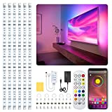 Under Cabinet LED Lighting Kit, GPED 5050 RGB Led Strip Lights 6PCS Waterproof TV Backlight with APP Remote Control Music Sync Led Lights Flexible 10ft Tape Lighting Kits Timing Bedroom Kitchen
