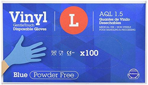 Gentle Touch 0382 wegwerp vinyl handschoen, maat L, blauw