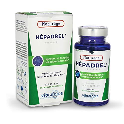 Hépadrel - 90 gélules de 400 mg Très dosées - Détox du foie - Hépatobiliaire (vésicule) - Détox (colon) - Hépato-protecteur (foie) - Aubier de tilleul, Chardon marie, Desmodium...