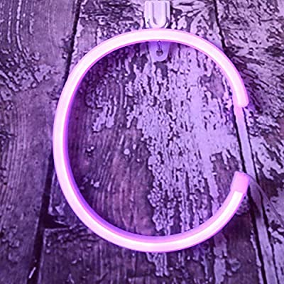 Light Up LED Neon Letter Signs Wall Decorative Neon Lights Purple Alphabet Marquee Letter Lights for Birthday Wedding Party Decor - C