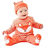 Poachers Body Bebé Manga Larga 0-24 Meses Otoño Mono Bebé Niña Invierno Ceremonia Mameluco Bebé Niño Primavera Ropa Peleles para Bebés Recién Nacidos Niña Sleepsuit Trajes + Gorro