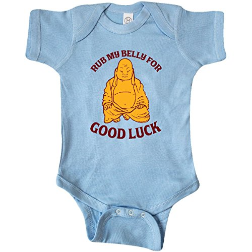 inktastic - Rub My Belly Infant Creeper 12 Months Baby Blue d031