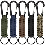 <span class='highlight'>SENHAI</span> 5 <span class='highlight'><span class='highlight'>Pcs</span></span> Paracord <span class='highlight'><span class='highlight'>Key</span>chains</span> with Carabiner, Braided Lanyard Ring Hook Clip for <span class='highlight'>Key</span>s Knife Flashlight Outdoor Camping Hiking Backpack Fit Men Women - 5 Colors