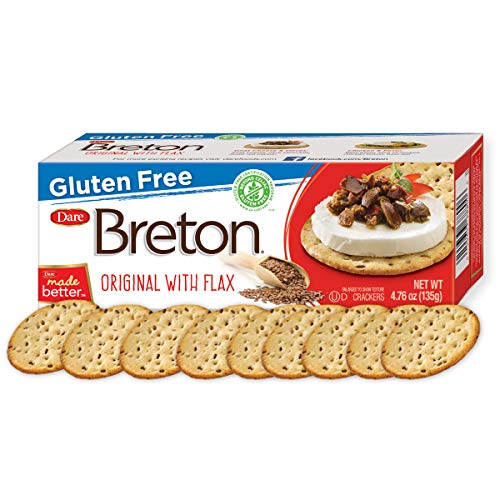 Dare Breton Gluten Free Crackers, Original with Flax, 4.76 Ounce $5.00 (65% OFF)
