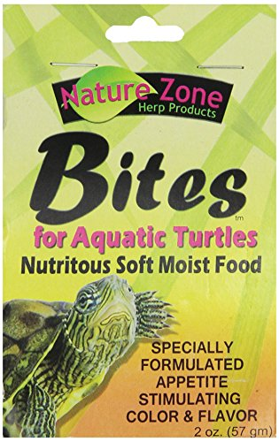 Nature Zone Snz54670 Bites Soft Moist Food For Aquatic Turtles, 2-Ounce