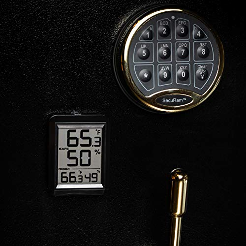 Wireless Gun Safe Digital Hygrometer and Thermometer Temp and Humidity Monitoring in Gun Safes and Cabinets - Monitor Humidity Level and Temp Inside Your Safe Without Having to Open it