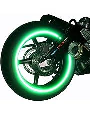 customTAYLOR33 (Alle Voertuigen Groene Hoge Intensiteit Grade Reflecterende Veiligheid Velg Tapes (Moet uw velgmaat selecteren), 17 inch (Velgmaat voor de meeste SportsBikes)