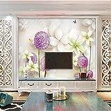 Sofá personalizado_wallpaper sala de estar TV fondo mural dormitorio simple...